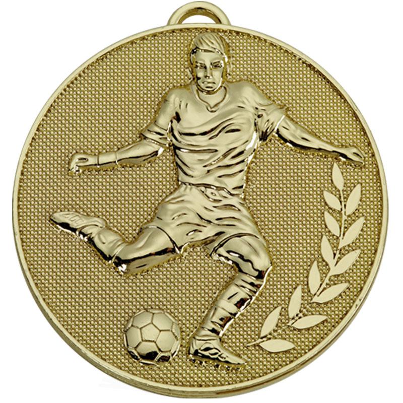 Gold Striker Wreath Football Champion Medal