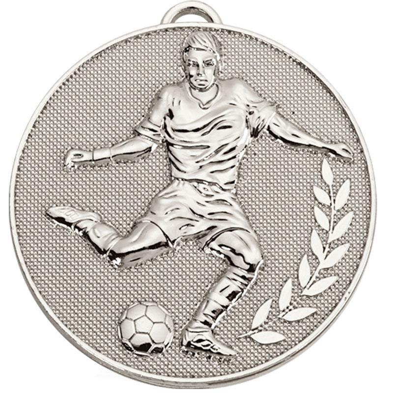 Silver Striker Wreath Football Champion Medal