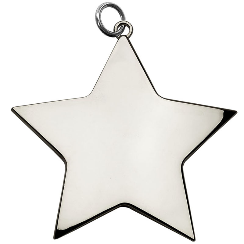 5cm Silver Small Star Medal