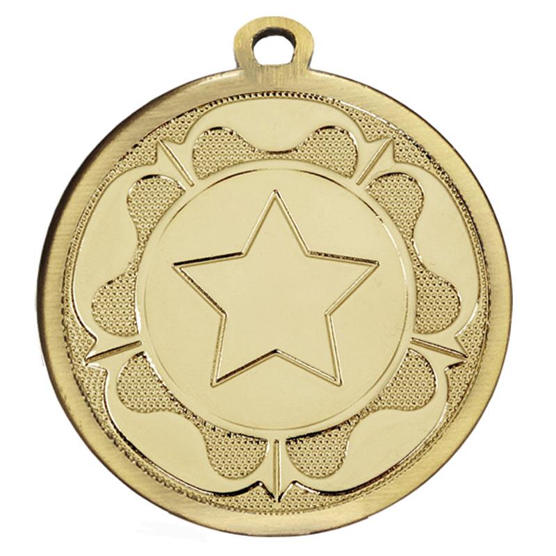 45mm Gold Star Centre Tudor Medal