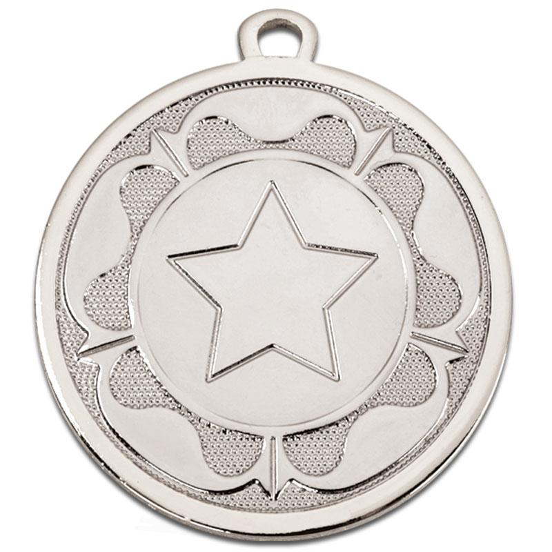 45mm Silver Star Centre Tudor Medal