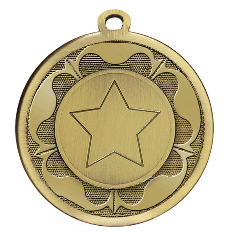 Bronze Star Centre Tudor Medal