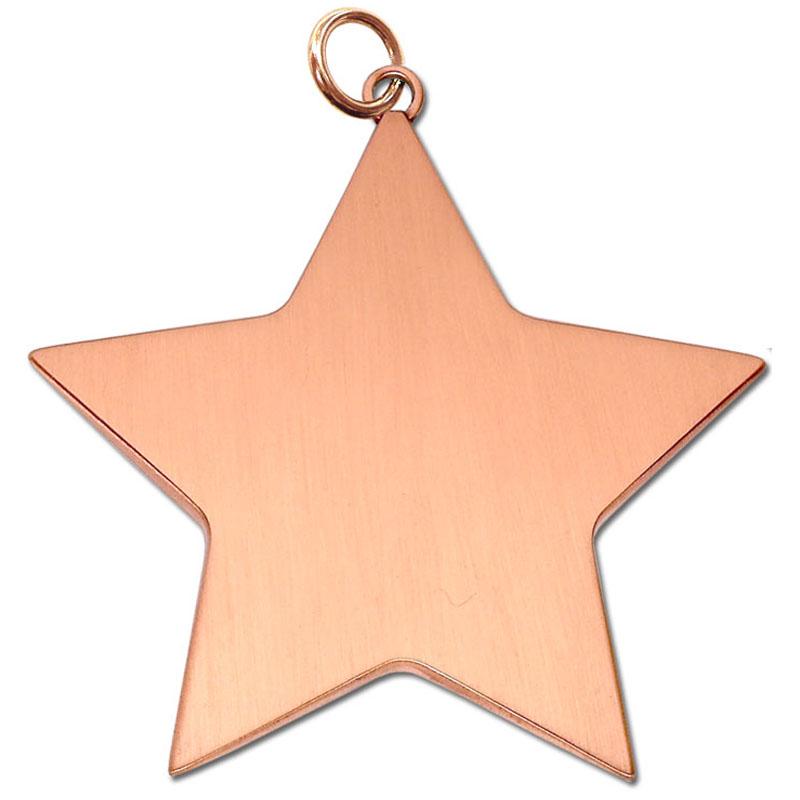 6cm Bronze Medium Star Medal