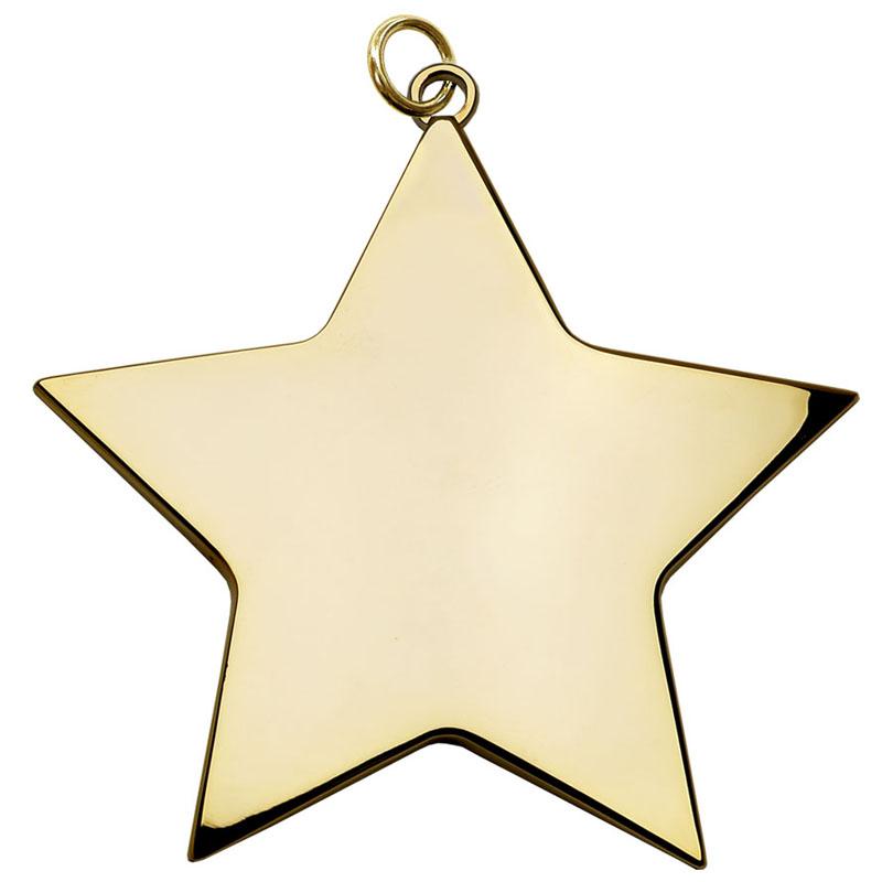 6cm Gold Medium Star Medal