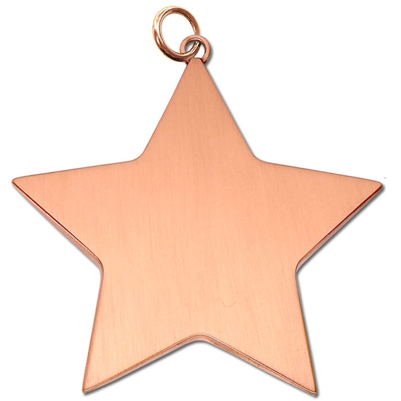 7cm Bronze Small Star Medal