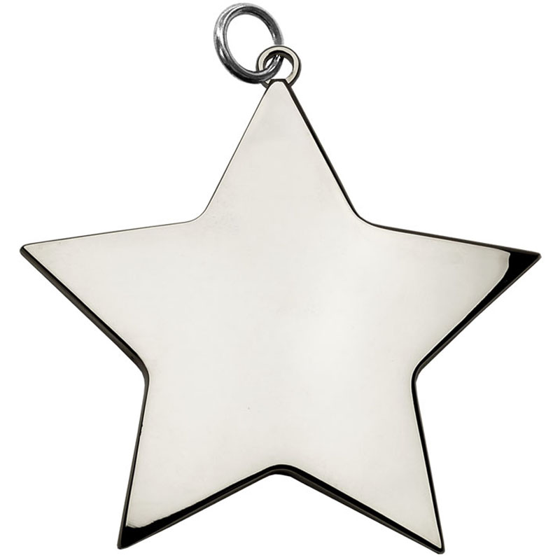 7cm Silver Small Star Medal