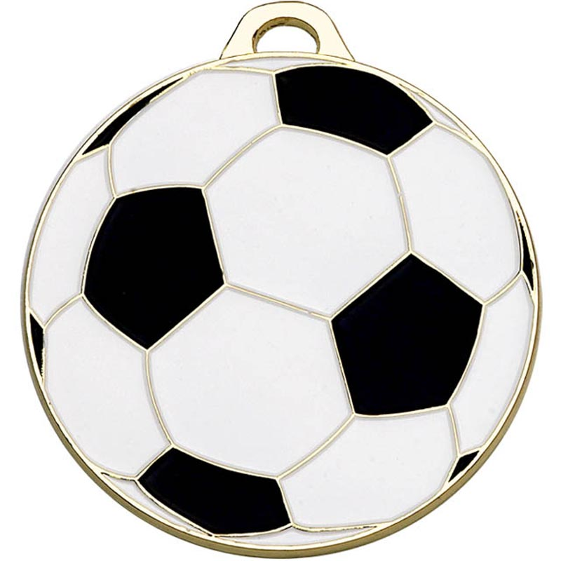 50mm Gold Classic Football Medal