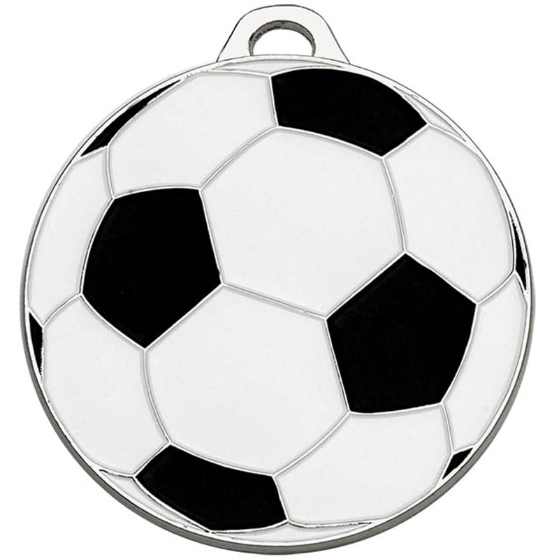 50mm Silver Classic Football Medal
