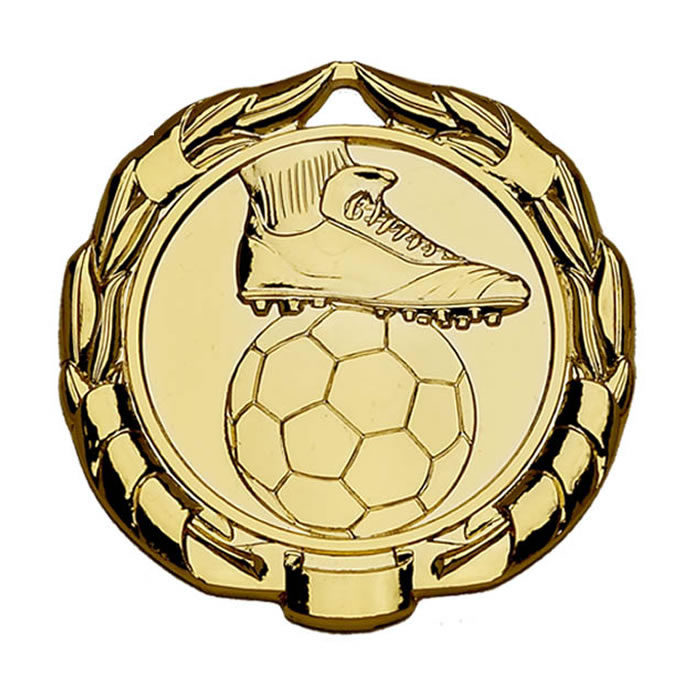 45mm Gold Sparta Football Medal