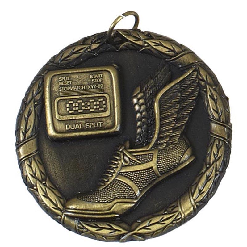 50mm Gold Hermes Shoes Running Laurel Medal
