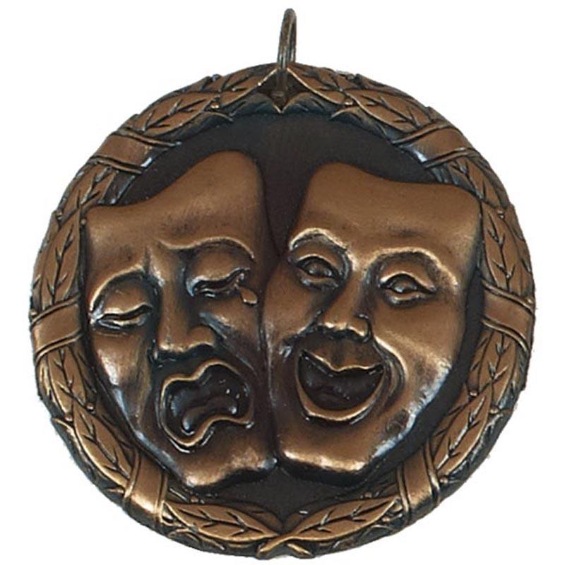 50mm Bronze Comedy & Tragedy Drama Laurel Medal