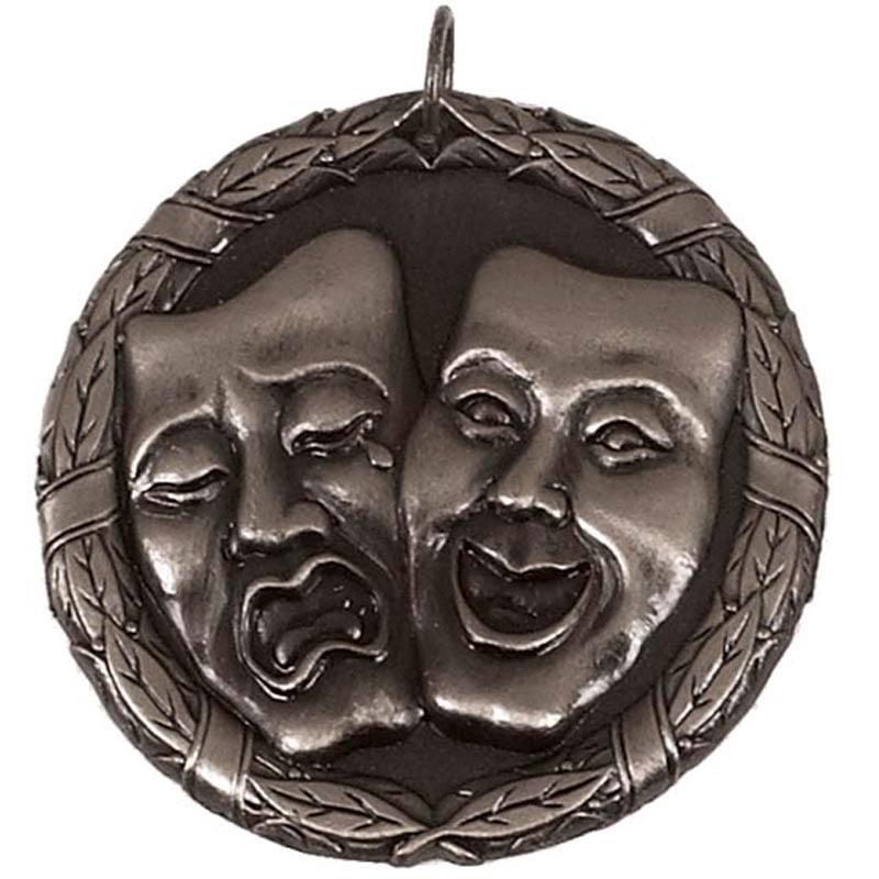 50mm Silver Comedy & Tragedy Drama Laurel Medal