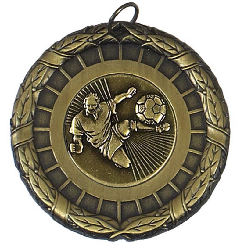 50mm Gold Centre Holder Laurel Medal