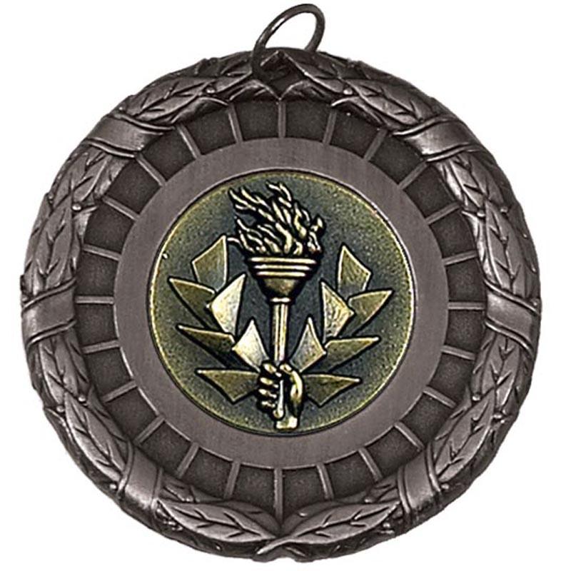 50mm Silver Centre Holder Laurel Medal