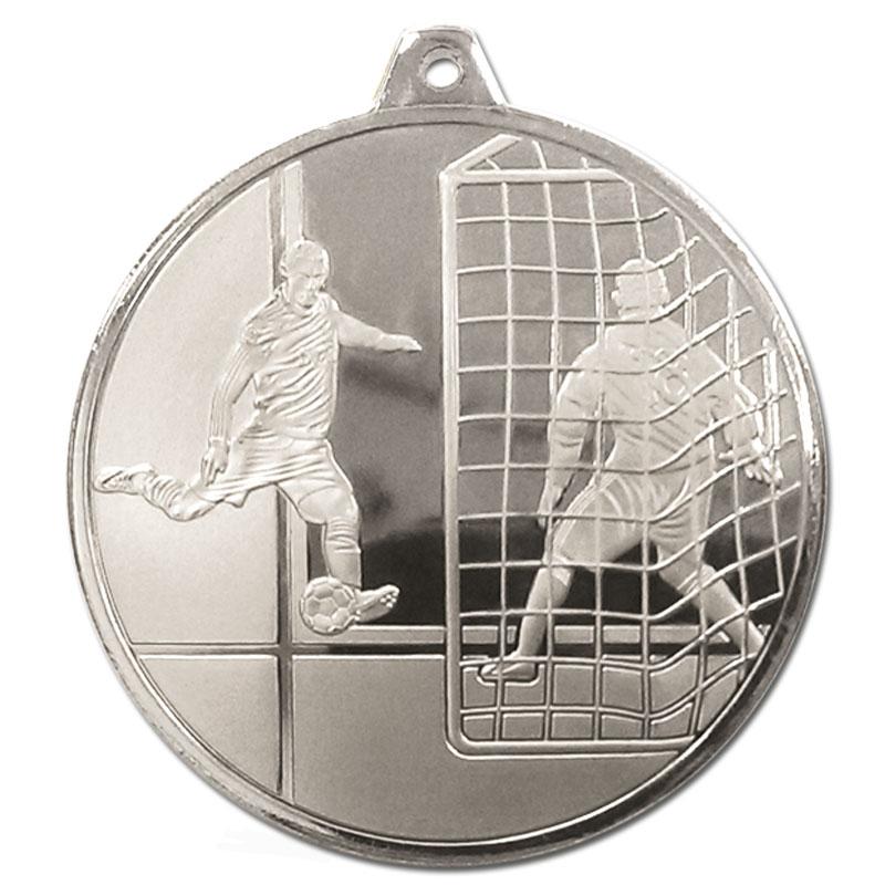 Silver Striker & Goal Football Glacier Medal