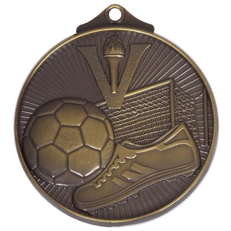 52mm Bronze Horizon Football Medal