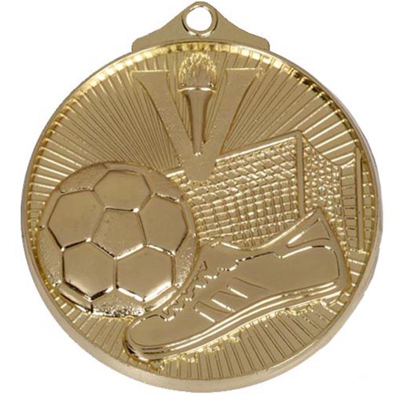 52mm Gold Horizon Football Medal