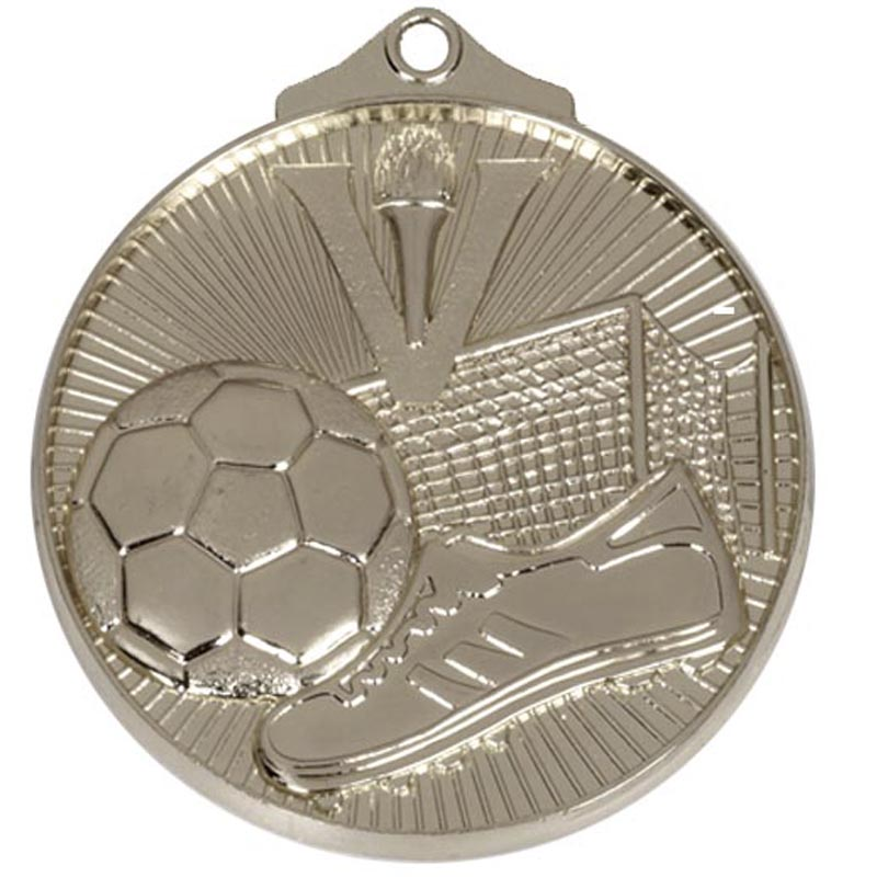 52mm Silver Horizon Football Medal