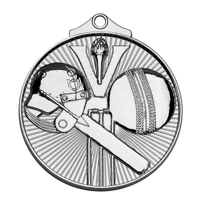 52mm Silver Horizon Cricket Medal