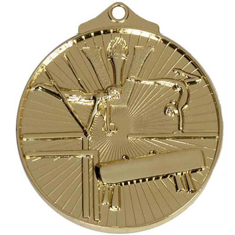 52mm Gold Horse & Rings Gymnastics Horizon Medal