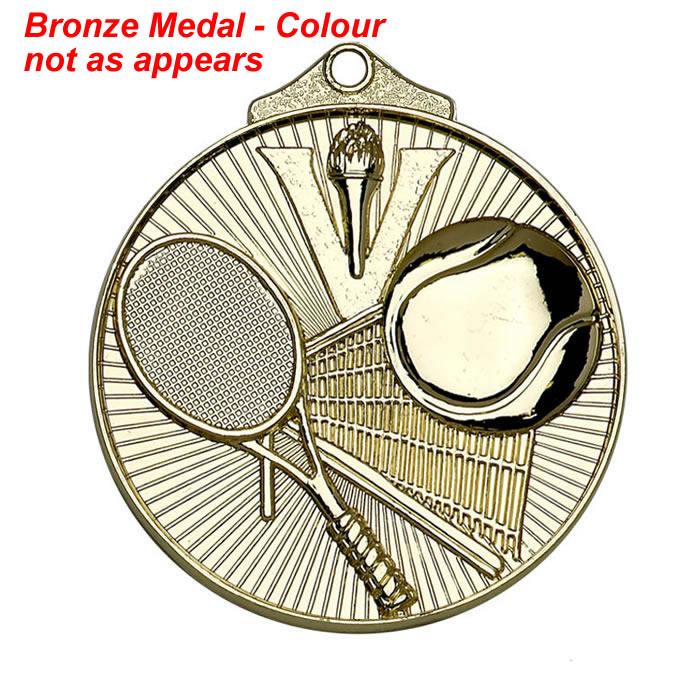 52mm Bronze Horizon Tennis Medal