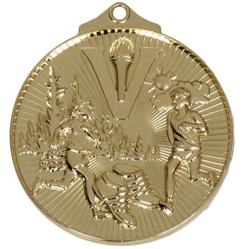 52mm Gold Horizon Cross Country Medal
