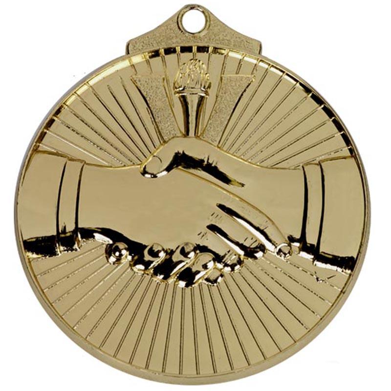 52mm Gold Horizon Handshake Medal