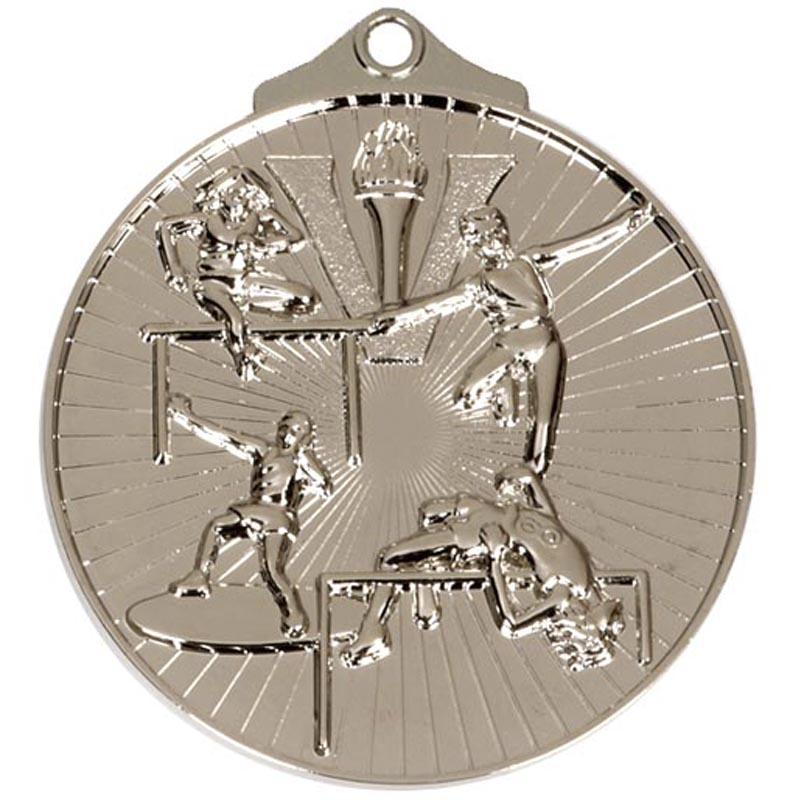 52mm Silver Horizon Track And Field Medal
