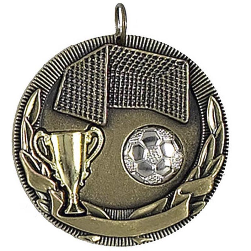 50mm Highlight Football Gold Medal