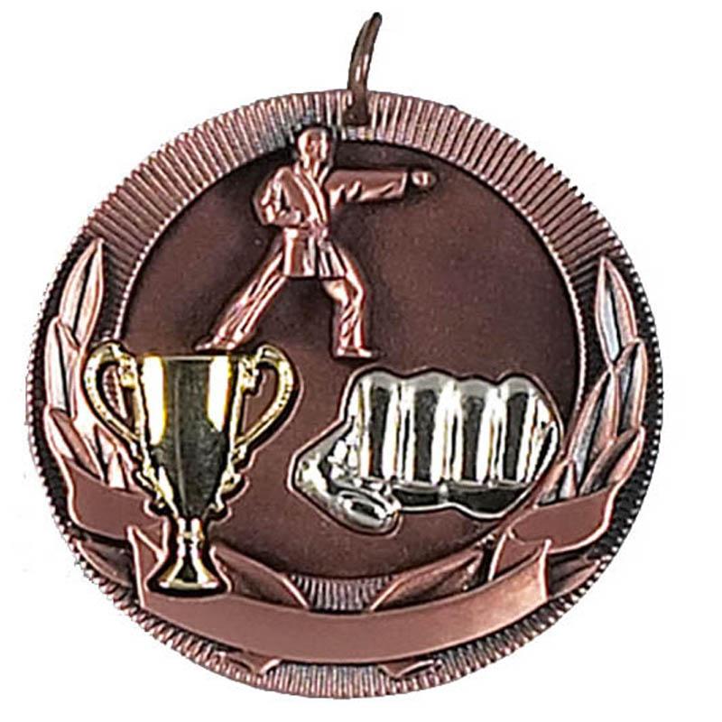 50mm Bronze Karate Medal