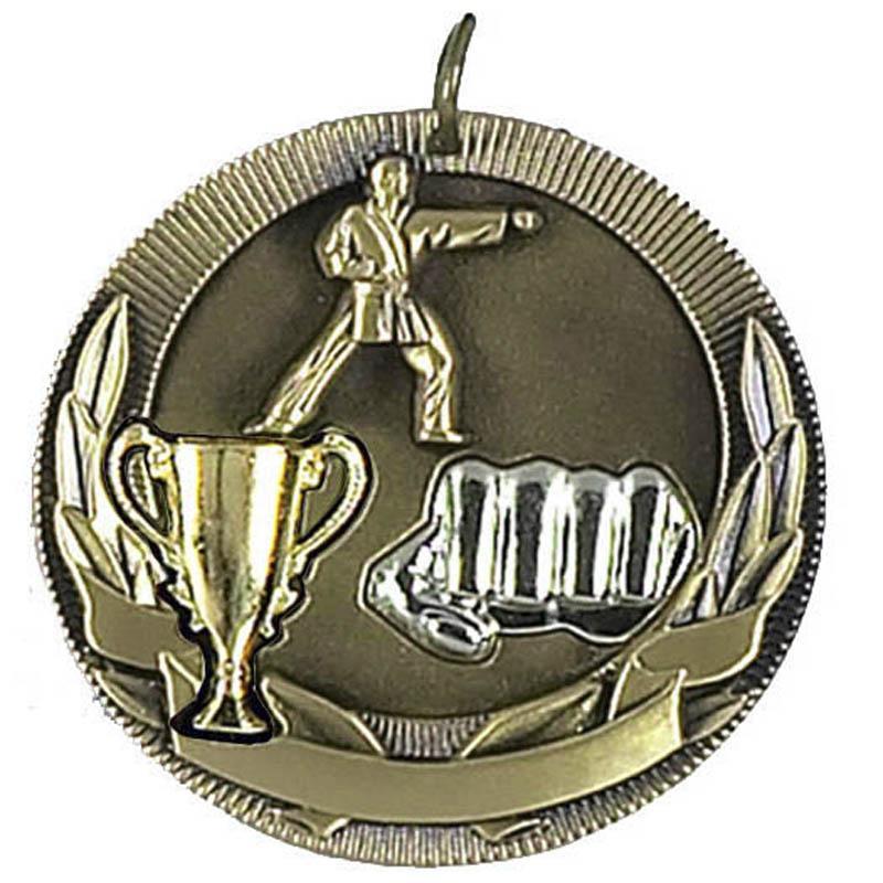 50mm Gold Karate Medal