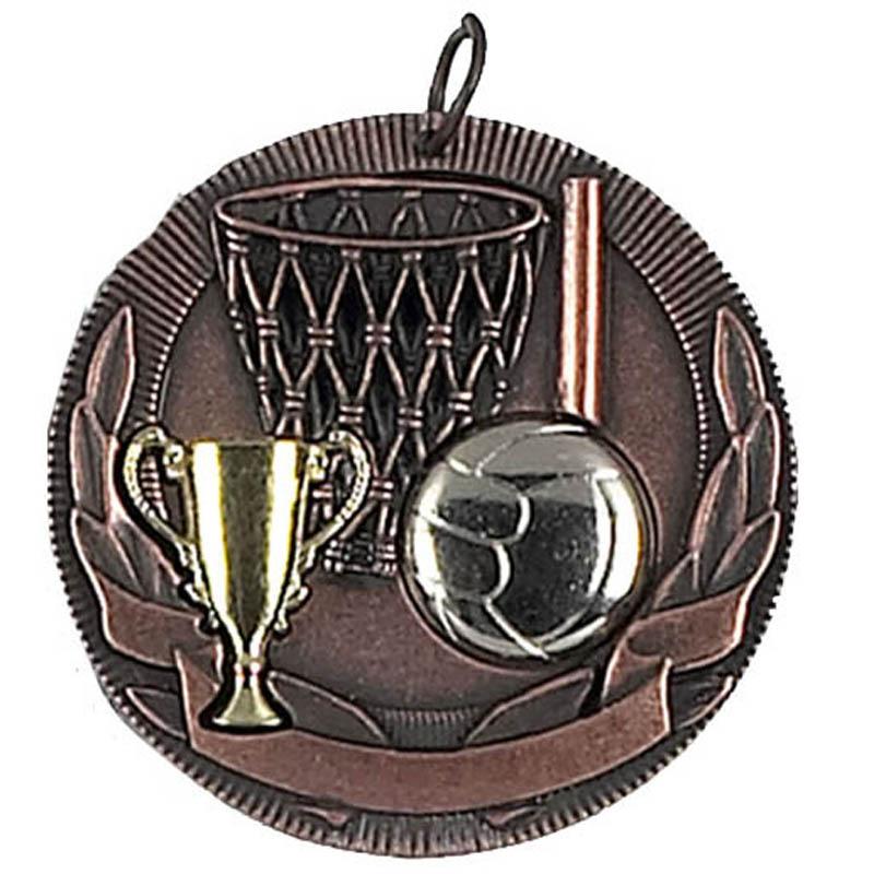 50mm Bronze Netball Medal
