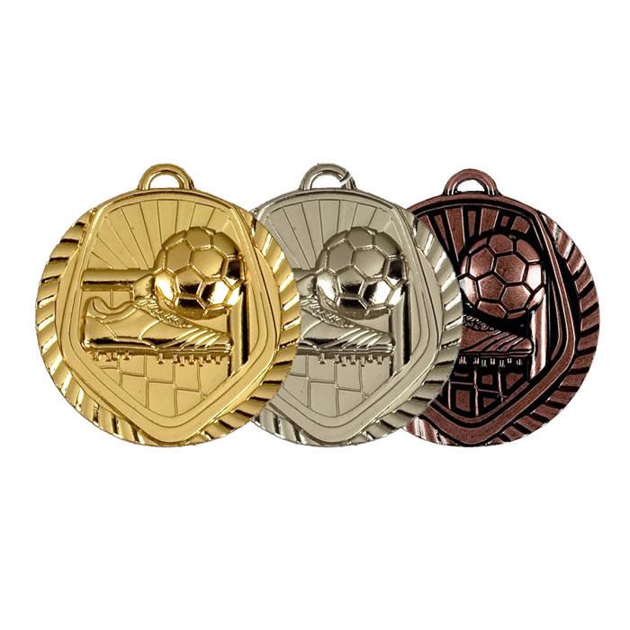 50mm Gold Football Medal