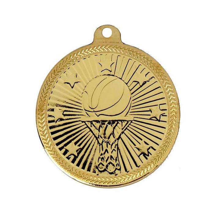Gold Goal Basketball Victory Star Medal