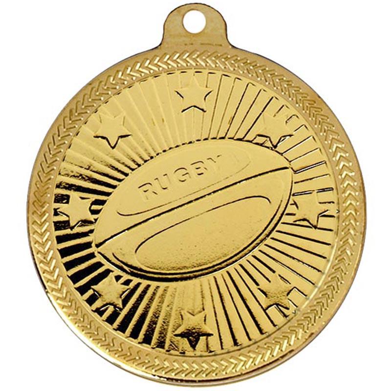 50mm Via Ferrata Rugby Gold Medal