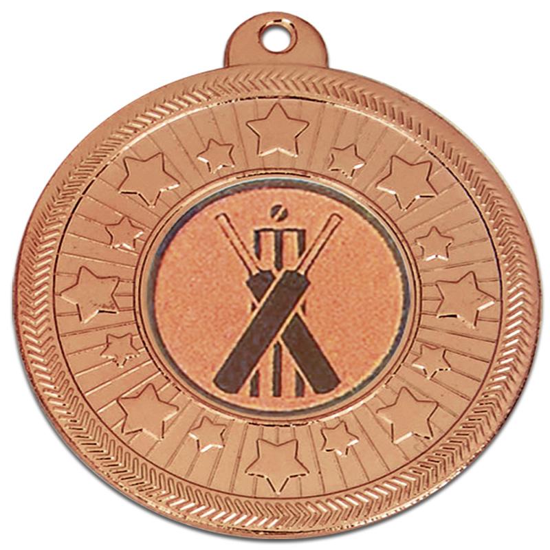 50mm Bronze Star Border Starburst Medal