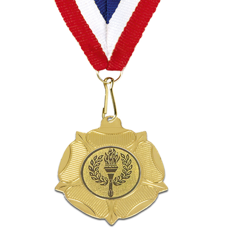 Gold Centre Holder Tudor Rose Medal