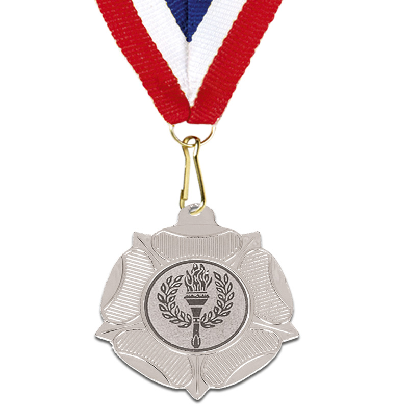 Silver Centre Holder Tudor Rose Medal