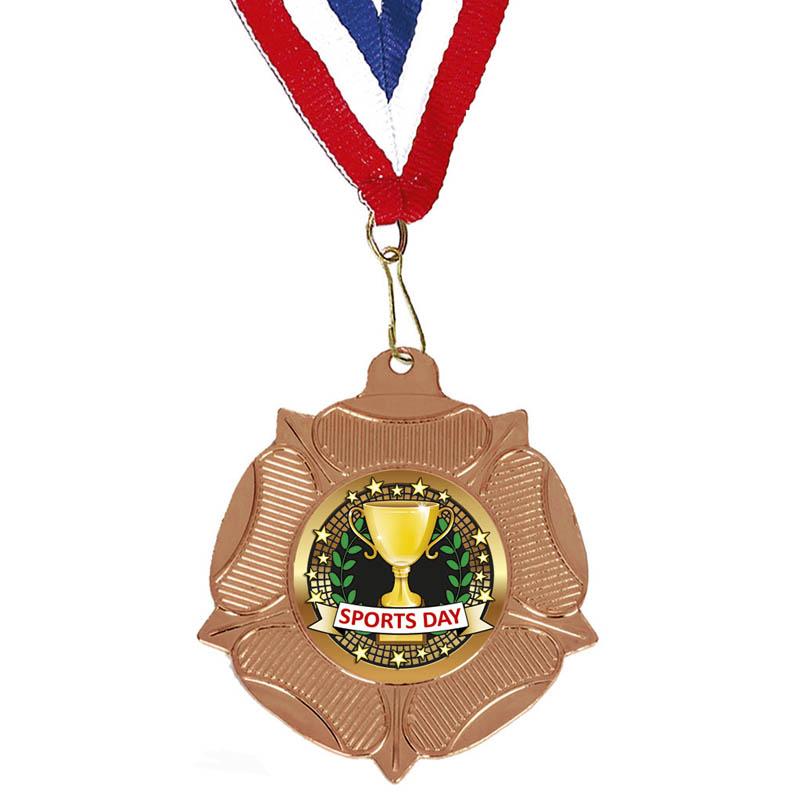 Bronze Sports Day School Fanfare Medal