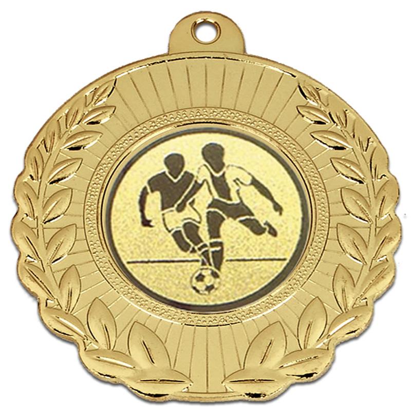 50mm Gold Wreath Border Laurel Medal