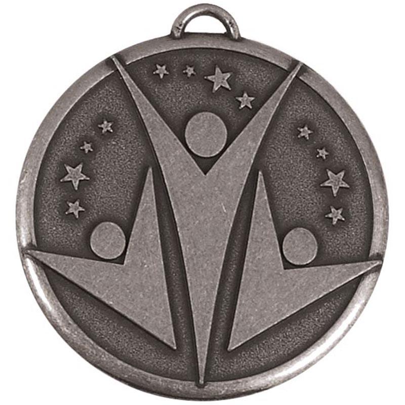 1 Inch Silver Elation Star Medal