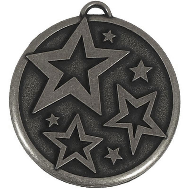 50mm Bronze Bowled Out Elation Star Medal