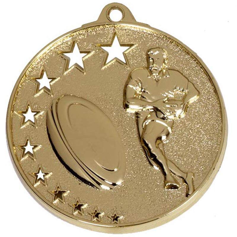 50mm San Francisco Rugby Gold Medal