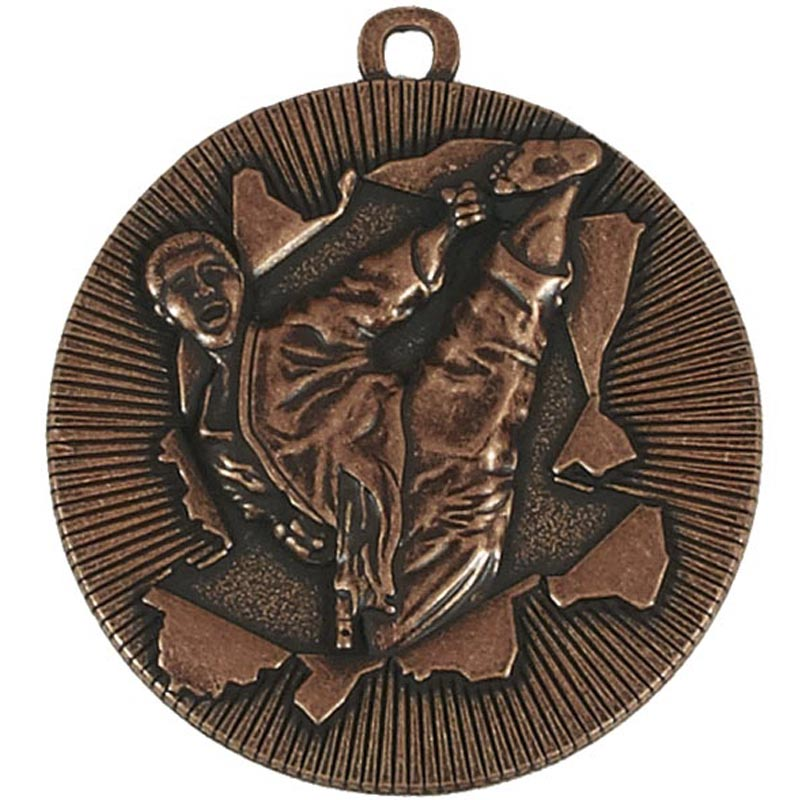 50mm Bronze Kick Martial Arts Xplode Medal