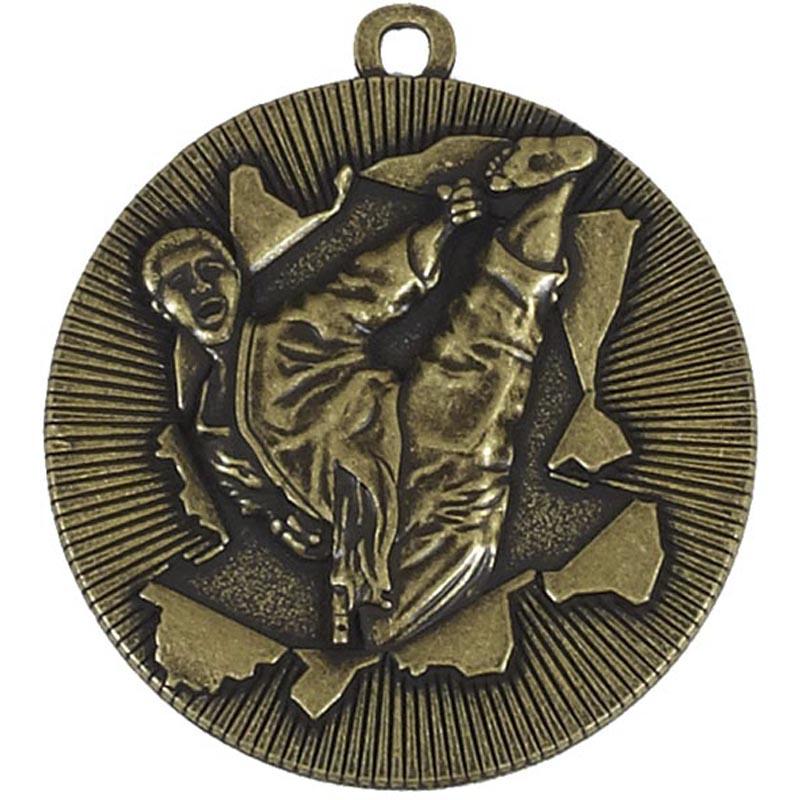 50mm Gold Kick Martial Arts Xplode Medal