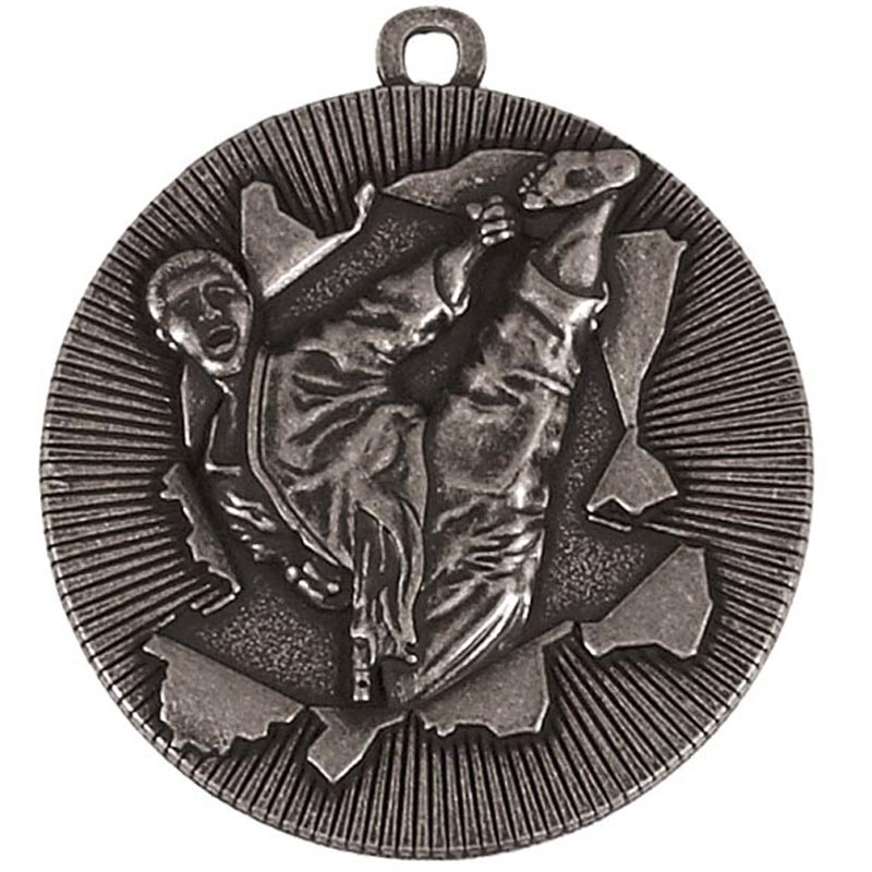 50mm Silver Kick Martial Arts Xplode Medal