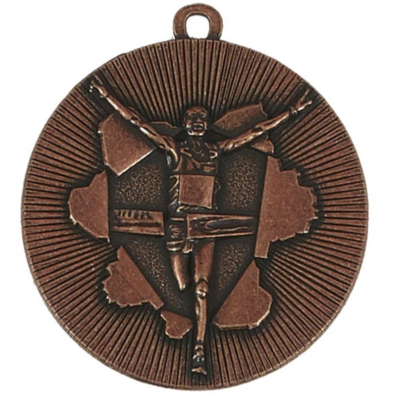 50mm Bronze Finish Line Running Xplode Medal