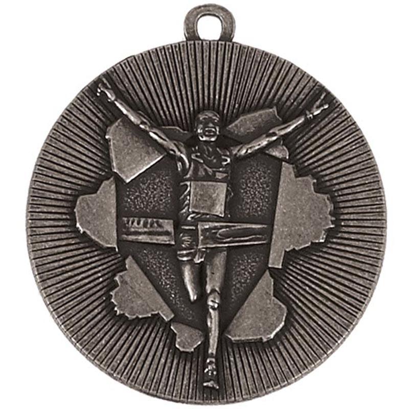 50mm Silver Finish Line Running Xplode Medal
