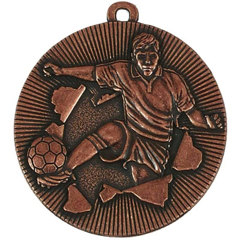 50mm Bronze Soccer Kick Football Xplode Medal