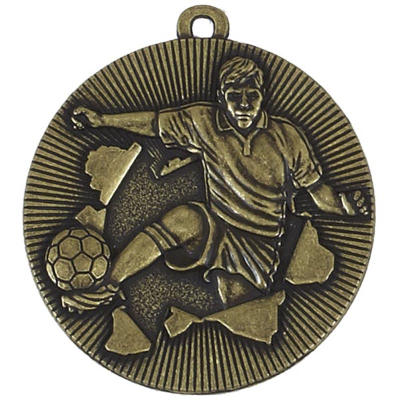 50mm Gold Soccer Kick Football Xplode Medal